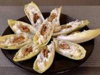 barquettes d'endive de mousse de thon mascarpone