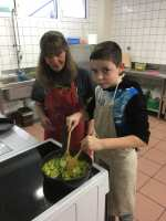 A la cuisson du fondu de poireaux