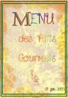 menu de petits gourmets